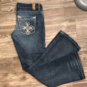 Maurice's embellished bootcut jeans size 5/6 short